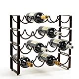 Moon Moon Stackable Wine Rack for Counter Holds 4 Bottles.