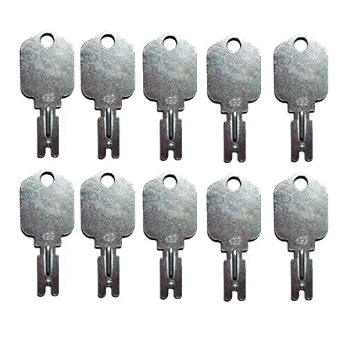 Mover Parts (10) Forklift Key for Clark Yale Hyster Komatsu Gradall Gehl Crown & More 166