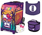 Zuca Hello Kitty Beach Bum Sport Insert Bag w Purple Frame, Gift Lunchbox & Seat