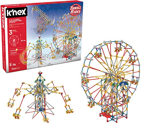 K'NEX Thrill Rides - 3-in-1 Classic Amusement Park Building -