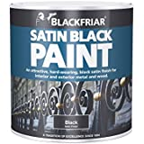 Blackfriar BKFSB125 125 ml Peinture pour bois et métal - Satin noir_P - 500 ml