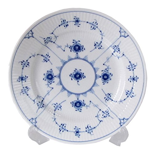 Blue Flower Plain Dinnerware (Blue Fluted Plain 6.75