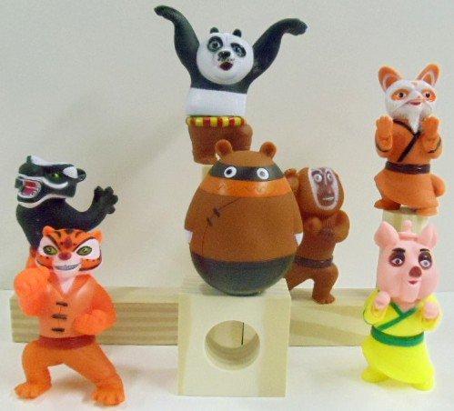 Buy Kung Fu Panda 7 Piece Bath Toy Figure Set Featuring Master