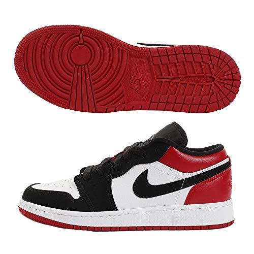 Jordan 1 Low White/Black/Gym Red (GS) (7 M US Big Kid)
