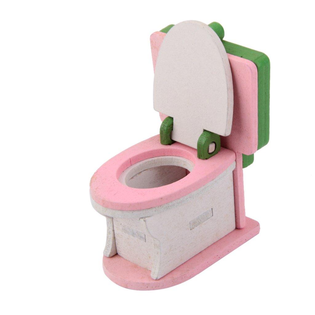 Amazon.es: Conjunto de Muebles Baño Juetege de Madera para Casa de Muñecas Niños: Juguetes y juegos