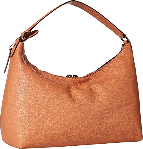 COACH Pebbled Leather East/West Celeste Convertible Hobo Dark Blush One Size