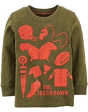 Mr Touchdown Tee (Baby) - Olive-24 Months