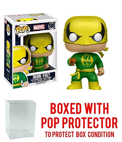 Funko Pop! Marvel Classic Iron Fist Previews Exclusive Vinyl Figure (Bundled with Pop BOX PROTECTOR CASE)