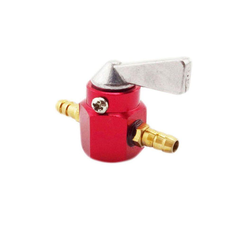 Stoneder CNC in lega 6/mm 1//10,2/cm serbatoio di benzina rubinetto in linea Petcock valvola interruttore per motore Pit Dirt bike moto ATV Quad rosso
