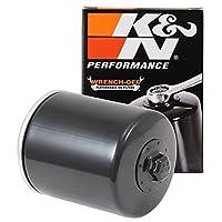 K&N Harley Davidson Filtro de aceite de alto rendimiento, Negro, Una talla