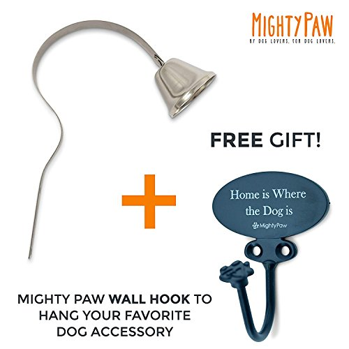 Mighty Paw Metal Potty Bell, An All Metal Dog Doorbell with Sleek Silver Bell and Support, The Thick-Walled Durable Bell Optimizes Sound Quality. Includes Free Training Tips by Mighty Paw (Image #6)