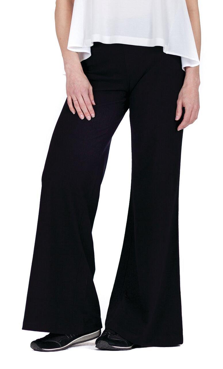Buki Women's Wide Leg Super Flattering Palazzo Pants Medium Black - Designed in Seattle.