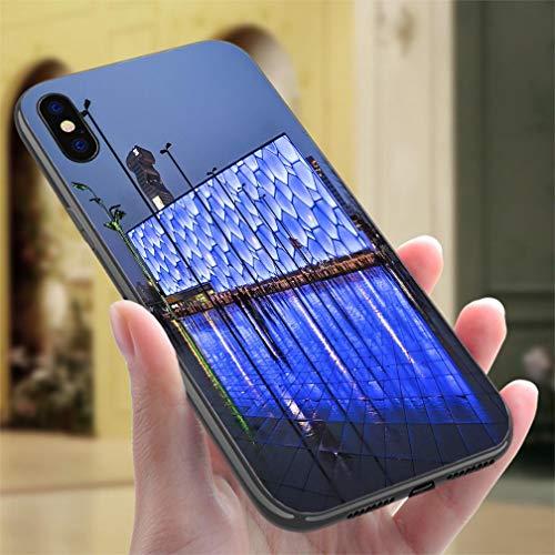 iPhone Xs MAX Color case Aquatics Center Resistance to Falling, Non-Slip,Soft,Convenient Protective - Aquatic Center