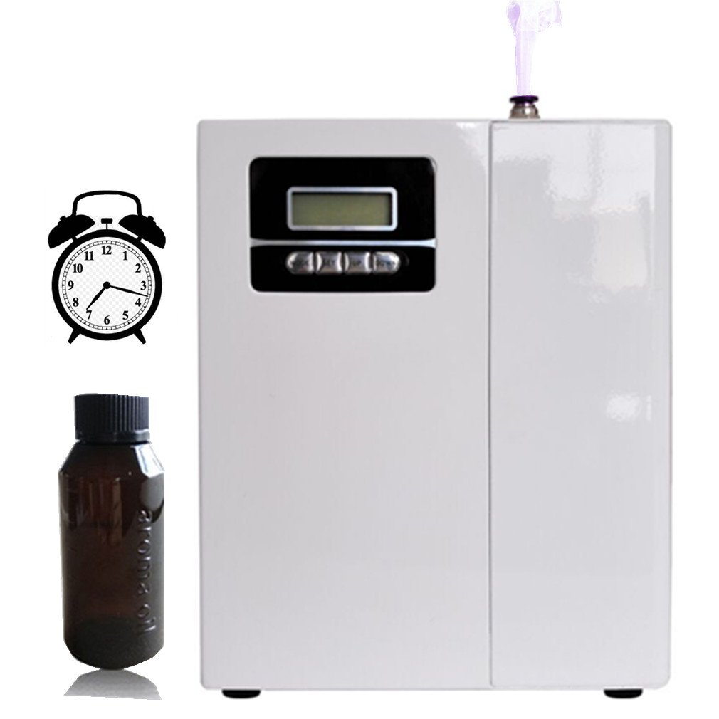 860-1,100 sq.ft Fragrance Machine With 150ml Bottle,One Free Atomizer Head,1m Plastic Tube Connect Hvac,Safe Lock,Led Display From Monday To Sunday,Scent Machine For Home Office Hotel Spa By Kevinleo