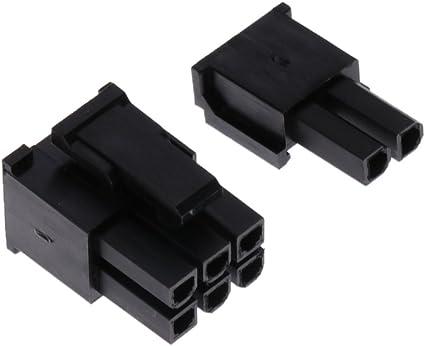 6 + 2 SM SunniMix 50Pcs 5557 8 Pin Conector ATX EPS PCI-E 400Pcs Terminal Crimp Plug
