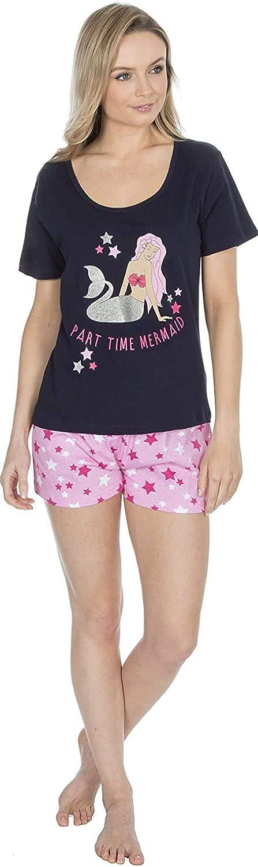 Insignia Verano Camiseta Camiseta y Pantalones Carlino Y Mermaids Pijama