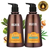 Skymore Moroccan Argan Oil Shampoo and Conditioner Set, Natural Hair Treatment for Dry Damaged or Color Treated Hair, Care All Hair Types Review