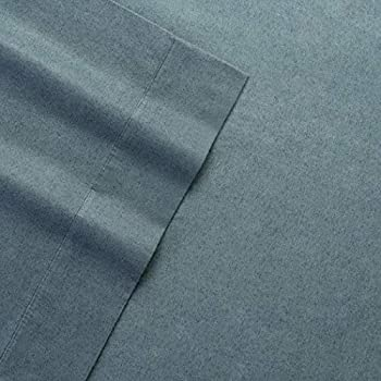 Columbia Warm & Cozy Flannel Sheet Set - 100% Cotton Ultra Breathable - Moisture Wicking - High-Performance Flannel 4 Piece Sheet Set (Queen, Charcoal Heather)