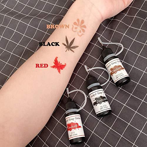 Henna Tattoo Kits For Kids: Jacknb Temporary Tattoo Kit Freehand Ink Semi Permanent