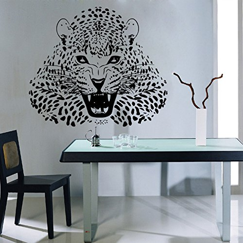 Wall Stickersferocious Leopard Hand-Carved Wall Painting Living Room Bedroom Decoration ()