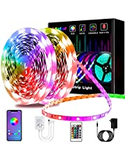 LED Strip Lights, L8star Color Changing Light Strips SMD 5050 RGB LED Lights with Bluetooth and Romote Controller Sync to Music Apply for Bedroom, Party and Home Decoration (32.8FT)