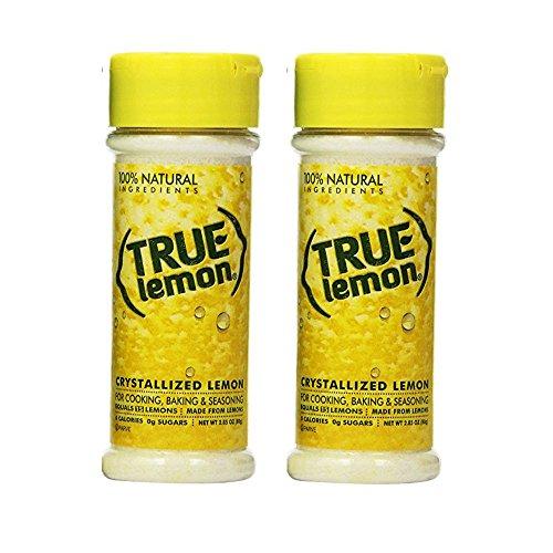 2.85 Shaker Ounce (True Lemon Crystallized Lemon Shaker for Baking & Cooking 2.85 oz (Pack of 2))