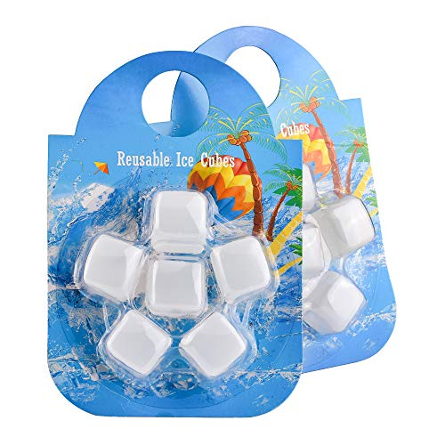 BOTTLED JOY Ice Cube (2 packs) Reusable Plastic Ice Cubes for All Kinds of Drinks Re-freezable Ice Cube Keep Drinks with Original Flavor Long Lasting Cold for Juice Beer Wine BPA Free Food Grade