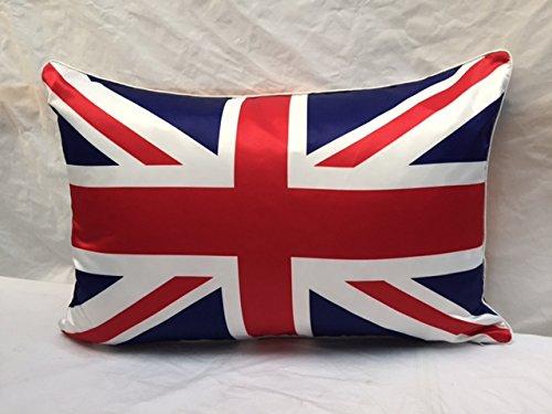 Lujo decoración del hogar Calidad Unión Jack sintética seda ...