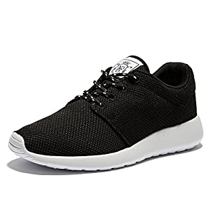 WOTTE Women's Running Shoes Comfortable Breathable Walking Sneakers Lightweight Rubber Sole Casual Shoes (8.5 B(M) US, Black)
