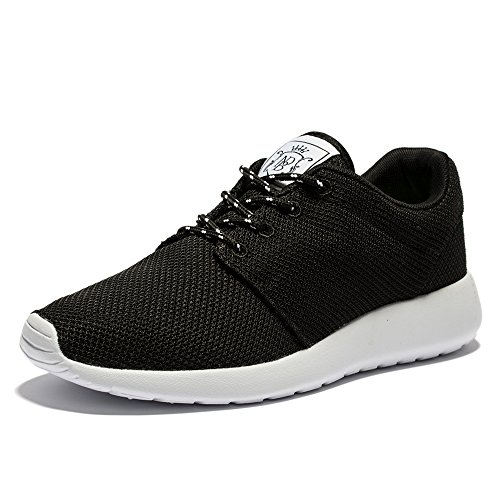 WOTTE Women's Black Lightweight Mesh Sneakers Shoes (10.5 B(M) US, Black)