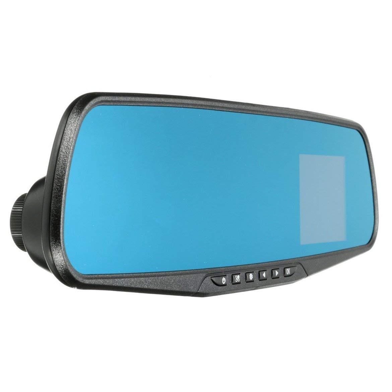 Negro JohnJohnsen 1080P Full HD Espejo retrovisor Visi/ón Nocturna Coche DVR Dash CAM 90 Grados Vista Angel Car Video Recorder Accesorios para autom/óviles