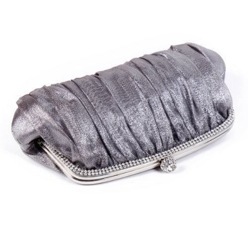 Grey Sleek Womens Evening Crystal Glitter Clutch bags Frame Damara HPqgw88