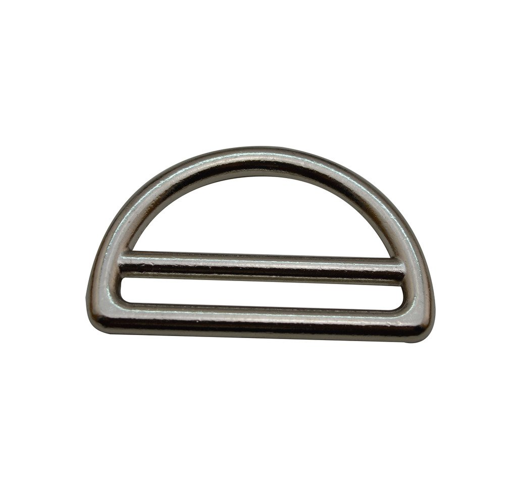 Amanaote Silvery 1.5 Inner Big Dia and 1.35 Inner Small Dia D Ring D Rings Welded Pack of 4
