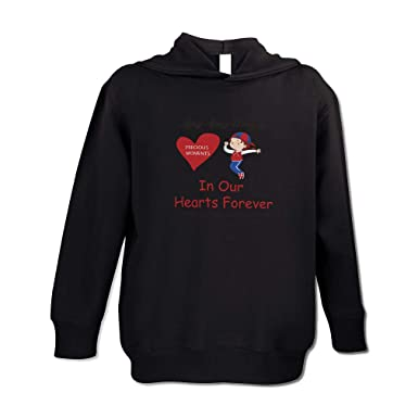 8260f9feb Personalized Custom Memorial Precious Moments. in Our Hearts Long Sleeve  Hooded Neck Boys-Girls