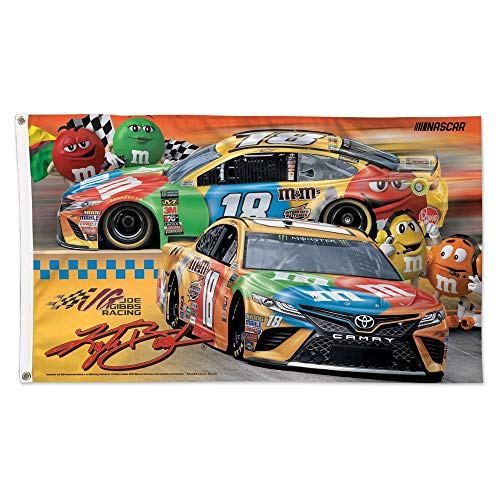 WinCraft Kyle Busch 2019 Yellow M&M Horizontal 3x5 NASCAR ()