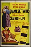 Chained for Life Framed Poster Movie 11 x 17 Inches - 28cm x 44cm Violet Hilton Daisy Hilton Mario Laval Allen Jenkins