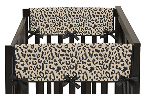 Animal Safari Teething Protector Cover Wrap Baby Unisex Boy or Girl Crib Side Rail Guards - Set of 2 Sweet Jojo Designs
