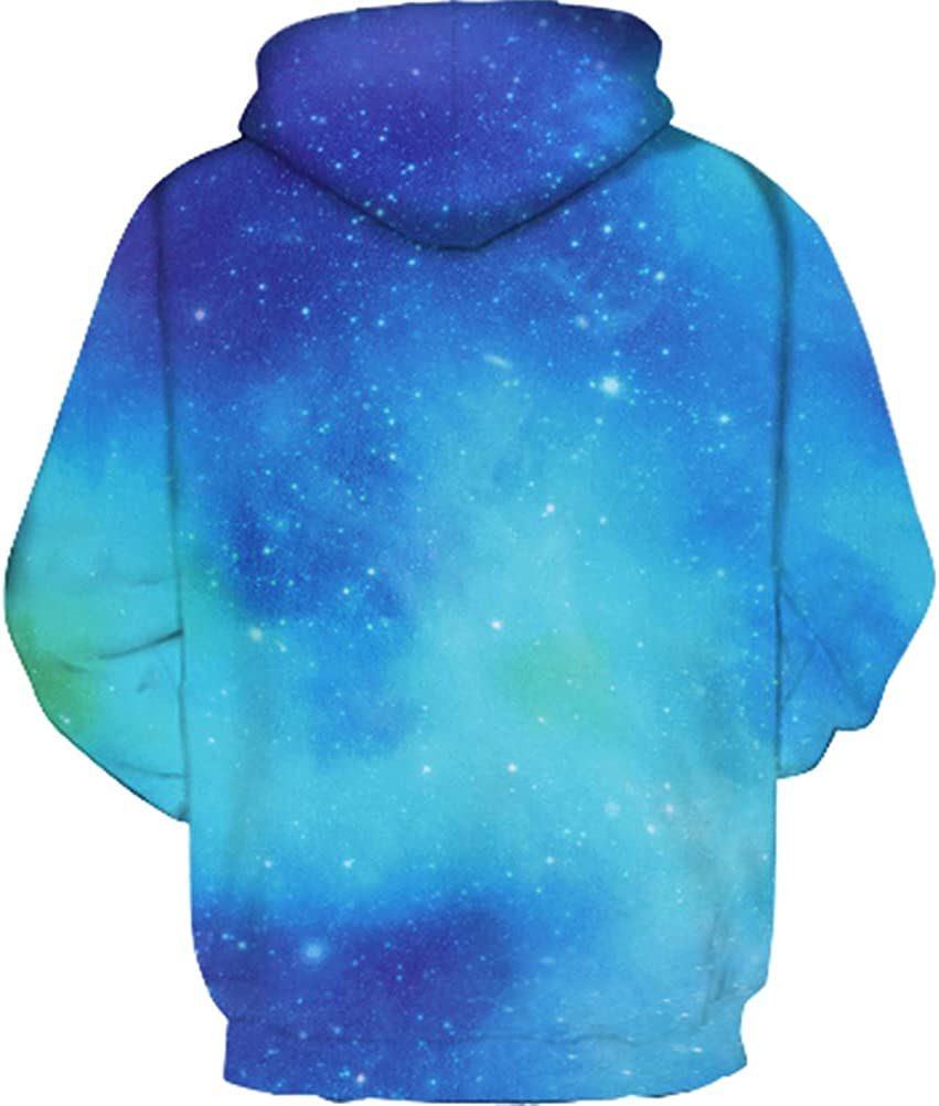 NAYINLAN Boys Girls 3D Galaxy Unicorn Print Sweatshirts Pullover Kids Hoodies with Pocket 5-12Y