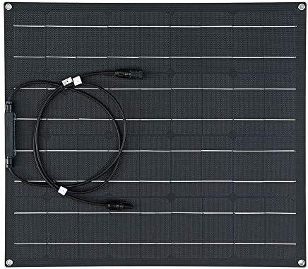 Cxraiy-HO Solarpanel 50W ETFE Solar Panel wasserdichte Auto-Notfall-Ladegerät mit 4 Schutz Corners 620x540x2.5mm (Color : Black, Size : 620x540x2.5mm)