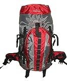 3200 Cubic Inch K-cliffs Moderate Hiker Internal Frame Backpack, Maroon/grey, Outdoor Stuffs