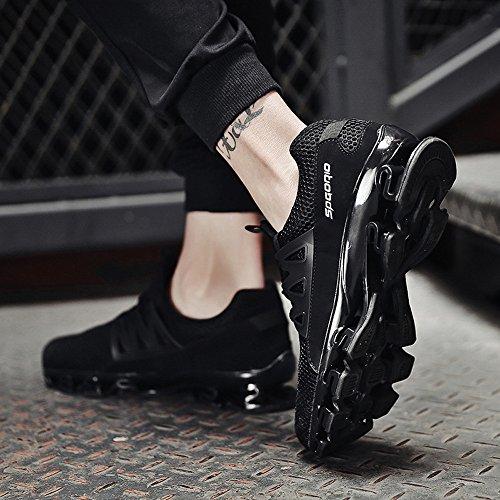 De Plein Mode Hommes Noir Taille Casual Grande Air Sport Marche Sole Course Maille Sneaker Slip Deelin Respirant Blade On Chaussures En 04qawBwx