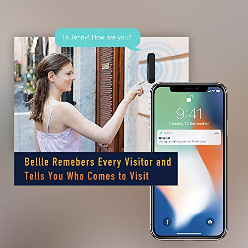NETVUE Video Doorbell, A.I. Wifi HD Camera Doorbell with Facial Recognition, Voice Interaction, Night Vision, Motion Detection, Wireless Doorbell, Push Notification and Compatible with Alexa Echo Show by NETVUE (Image #5)