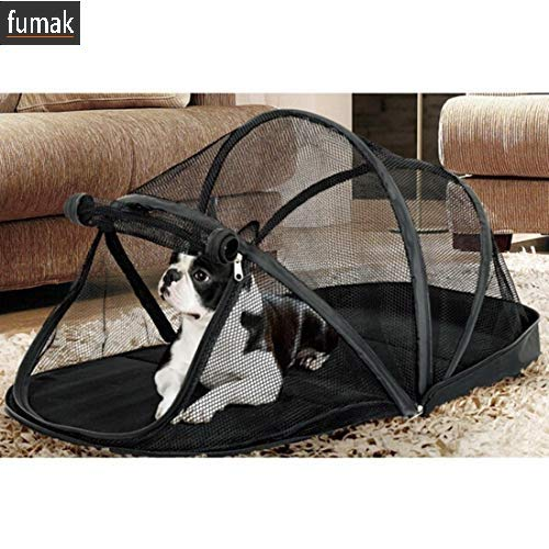(fumak Portable Dog House Cage for Small Dogs Crate Cat Net Tent for Cats Outside Kennel Foldable Pet Puppy with Mosquito Net)