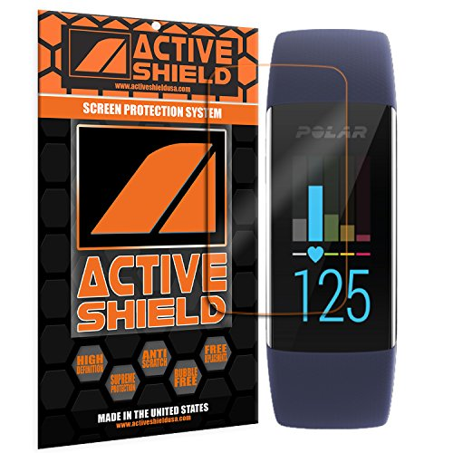 Polar A370 (6 PACK) Screen Protector Active Shield all weather Premium HD shield with Lifetime Replacement Incentive Program