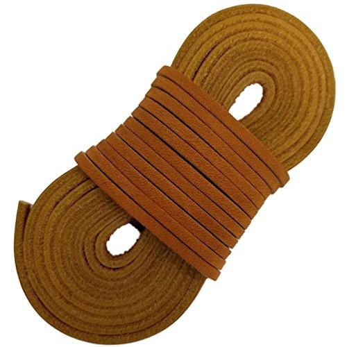 Tofl Läder Kängsnören - Lätt Dimensionering Cut Att Passa Tan