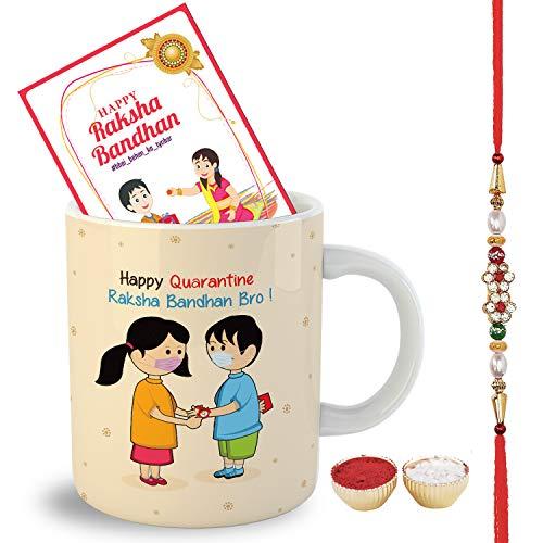OddClick Gift for Bro Sis Happy Quarantine Rakshabandhan Rakhi Theme Based Printed Coffee Mug 300Ml – Brothers Gift for Rakhi Gift for Sister (Brother) Price & Reviews