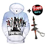 Fleece Fortnite Unisex 3D Printed Jumpers Legend Hoodie for Youth unisex-teen Big Tall Little Kids Boys Girls Digital Battle Royale Sweatshirts Pullovers Tops Hooded Novel Pocket (Q1046YH03, M)