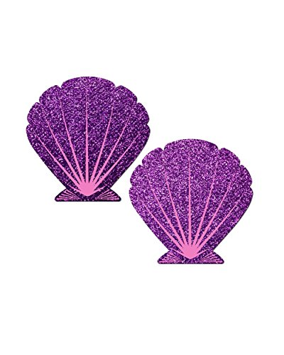 iHeartRaves Purple Mermaid Sea Shell Rave Pasties (Set of 2 Pasties)
