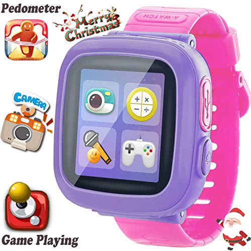 Kids Game Smart Watch [AR Pro Edition] for Ages 3-12 Girls Boys Children Learning Wristband with 1.5'' Screen Camera Pedometer Alarm Clock Fitness Tracker Puzzle Digital Electronic Toy Birthday Gifts