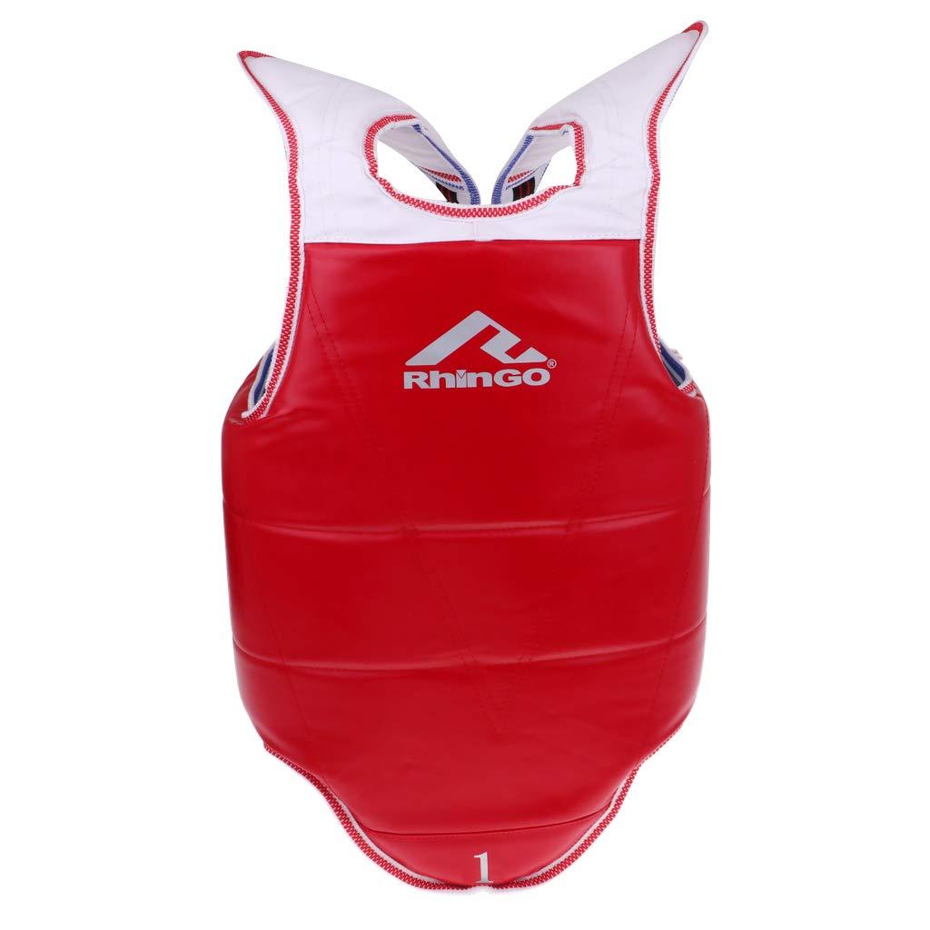 Perfeclan Boxeo Transpirable Protector De Pecho De Taekwondo Adultos Ni/ños Cuerpo Cofre Cintura Guardia
